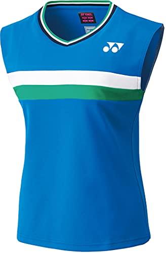ヨネックス YONEX バドミントンウェア レディス 75THゲームシャツ(ノースリーブ) 20614AY 329:サファイアブルー M