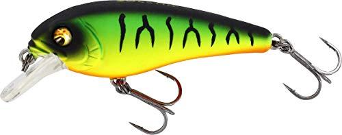 Westin Bullybite Crankbait Floating - Señuelo para pesca de spinning en perca y truchas, lubina, cebo para pesca de spinning, color: Firetiger, longitud: 6 cm/9 g