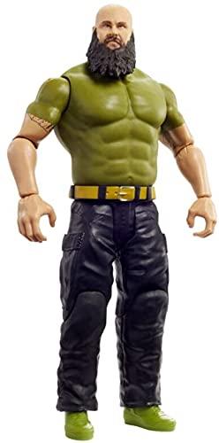 WWE Figura de acción Braun Strowman, muñeco articulado de juguete para niños +6...