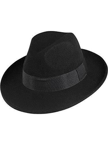 Fiebig Herren Bogart Hut wasserabweisend knautschbar, Farben:schwarz, Kopfgröße:58