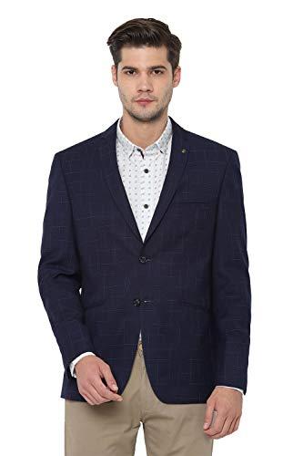Allen Solly Men's Synthetic Blazer (ASBZWSLFG60045_Navy_38)