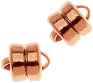 Beadaholique Real Copper Cased Magnetic Clasps 6mm x 8mm (3)
