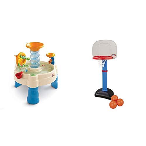 Little Tikes Spiralin' Seas Waterpark Water Table & Easy Score Basketball Set, Blue, 3 Balls - Amazon Exclusive
