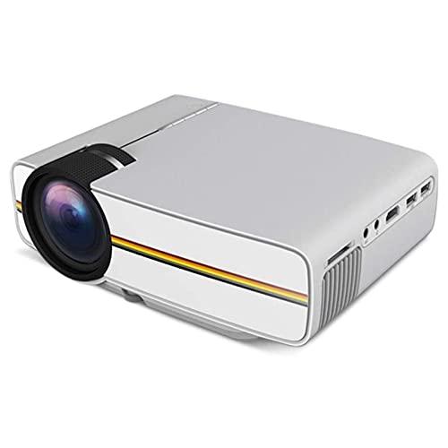 ZLQBHJ Mini proyector, 1080p admitió el tamaño de proyección de 30-138 ', proyector de Cine en casa portátil, para DIRIGIÓ Proyector de Video proyector de películas al Aire Libre