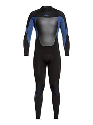 Quiksilver Mens 3/2Mm Syncro - Back Zip GBS Wetsuit for Men Back Zip GBS Wetsuit Black S