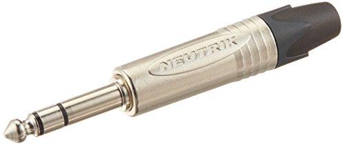 Neutrik NP3X Klinkenstecker, vernickelte Kontakte, Nickel-Gehäuse, 3 polig, 6.35 mm