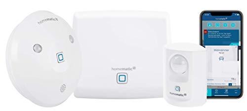 Homematic IP Smart Home Set Sicherheit, Alarm bei Bewegung per Sirene oder kostenloser App, 154593A0