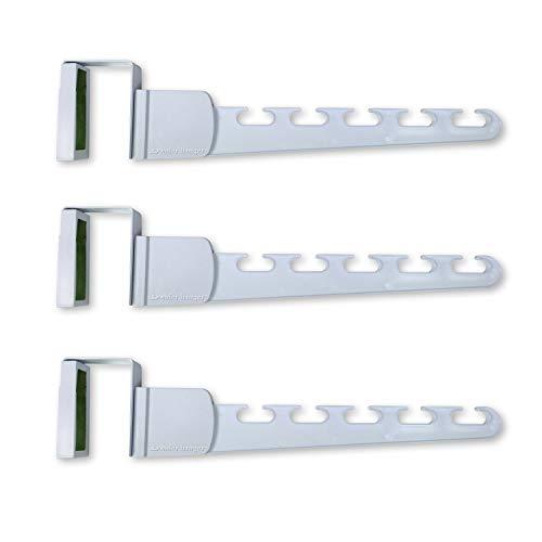 Wonder Hanger Over-The-Door Plastic Hanger White - Over The Door Hanger Set of Three