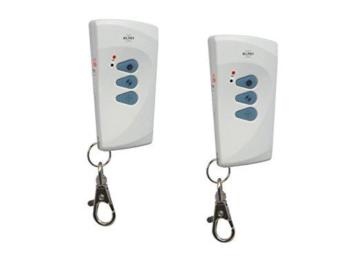 2er Set Fernbedienung Zubehör für ELRO Pro Alarmsystem AP5500, Funkfernbedienung Alarmanlage