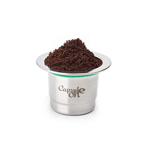 Festnight Taza de café de acero inoxidable, compatible con máquinas de café Nespresso, a excepción de los modelos U, compatible con la última cafetera Scishare, excepto otros