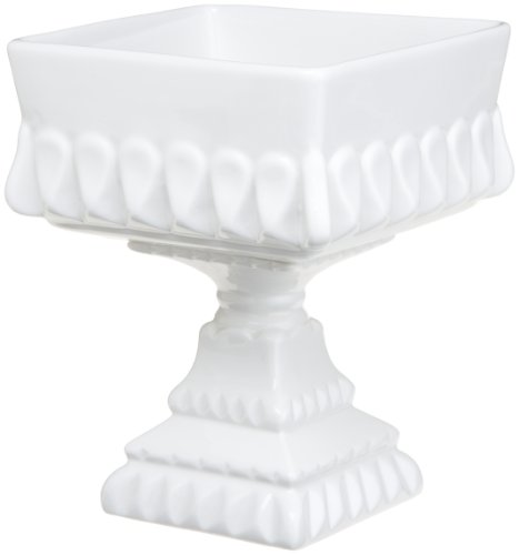 Rosanna Decor Bon Bon Footed Square Bowl White