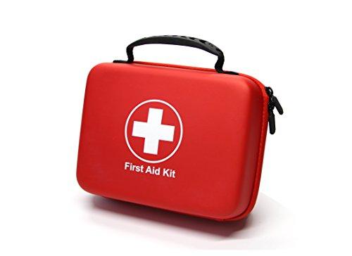 Kompaktes Erste-Hilfe-Set (228 Stück) Entwickelt für Familien-Notfälle. Wasserdichte EVA Case&Bag ist ideal für das Auto, Haus, Boot, Schule, Wandern, Reisen, Büro, Sport, Jagd. Beschütze deine Lieben