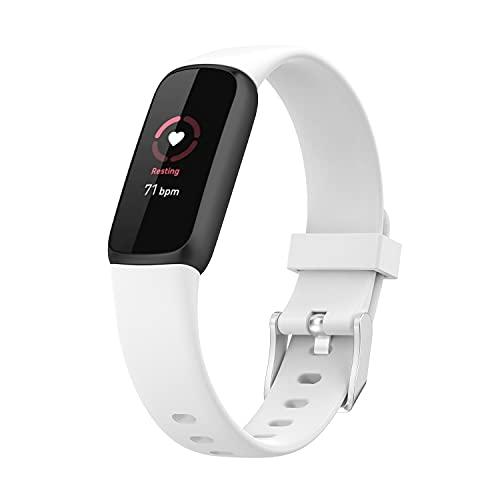 MAKACTUA Pulsera compatible con pulsera de lujo para hombre y mujer, silicona, correa de repuesto para Luxe
