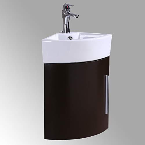 Corner Wall Mount Bathroom Vanity Sink...