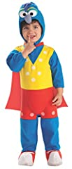 Gonzo romper has attached shoe tops and cape; headpiece included Rubies' ez-on rompers are delightfully easy to get squirming babies and toddlers into, lets even the youngest member of the family play dress-up Officially licensed muppet costume creat...