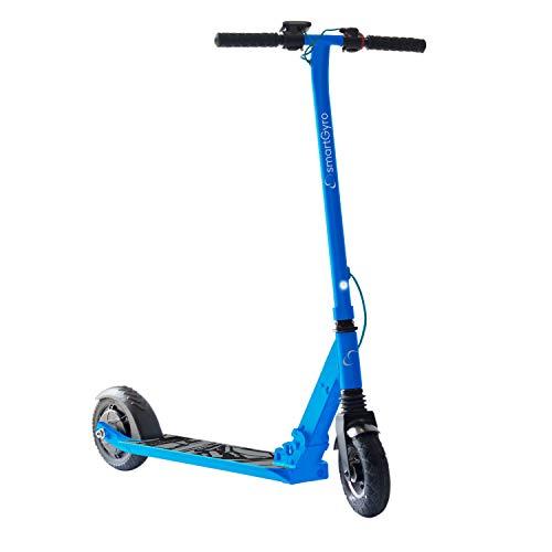 SmartGyro Xtreme XD Patín eléctrico para niños y jóvenes, ruedas 8', 3 velocidades, plegable, ligero, autonomía de 18 Km, batería de litio, freno eléctrico, Scooter, luces traseras, Azul