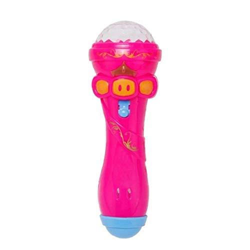 1pc Niños Micrófono Inalámbrico De Karaoke Juguetes De La Música, Iluminación Intermitente del Proyector, Favor De Partido Regalo De Cumpleaños para Niñas