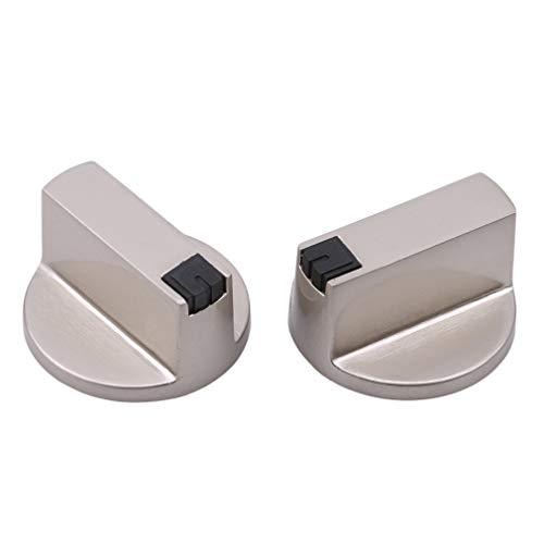 Carry stone 2 Stücke Universal Silber Gasherd Knöpfe Herd Ofen Kochfeld Steuerschalter, 6 MM 0 u0026 deg; Nützlich und praktisch
