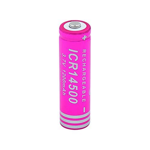 WPHH 14500 Baterías 1200Mah 3.7V Pilas Recargables, Alta Potencia De Descarga, Gran Corriente para Linterna LED, Juguete,6pcs