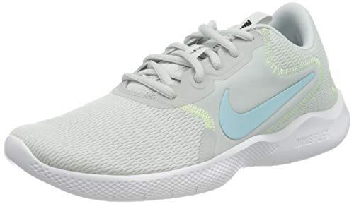 Nike W Flex Experience RN 9, Scarpe da Corsa Donna, Pure Platinum/Glacier Ice-Barely Volt-Black, 40.5 EU