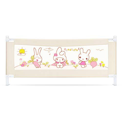 Rails Beiges de lit pour Les Enfants en Bas âge très Longs, Garde réglable de Bedrail de sécurité pour Le bébé d'enfants 82cm Haut (Taille : 180cm)