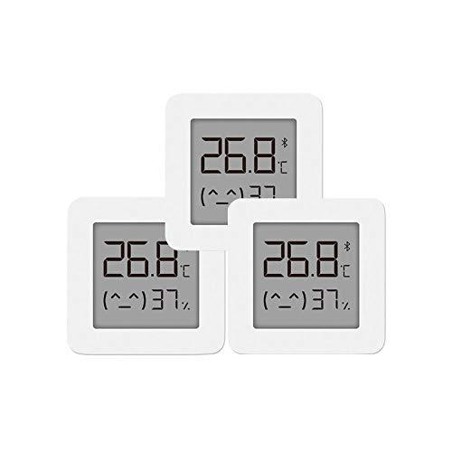 für Xiaomi Mi Hygrometer Digital Thermometer Innen Bluetooth Thermometer 2 Wireless Smart Elektrische Digital Hygrometer Thermometer Arbeit für Mijia APP,3 PCS