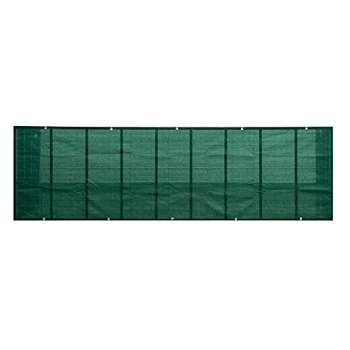 HOOJUEAN Malla Protectora Balcon, Pantalla de la Valla 165 g/m², Malla de Sombreo para Jardín Protector Balcón Privacidad Protección con 20m CuerdaDark green-1x5m