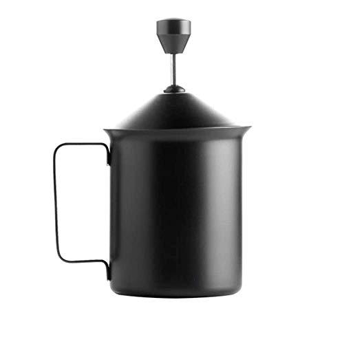 Montalatte Mano Pompa Montalatte, Manuale Operated Schiuma di Latte caffè in Acciaio Inox Nano-Strato Anti-Impronte digitali for Cappuccino e caffè Latte WTZ012