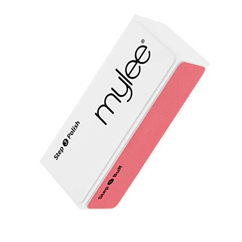 Mylee Taco Pulidor de 3 Pasos – Lima de Tratamiento de 3 Caras (320/600/3000) para Manicura de Salón Profesional Taco Pulidor para Pulir Fácilmente el Gel y Pepara la Uña para el Esmalte