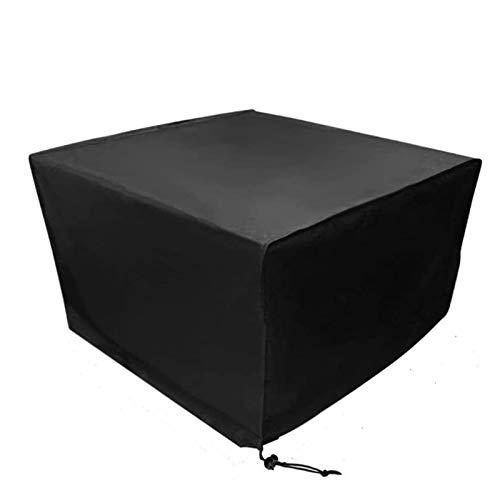 Fablcrew Housse Mobilier de Jardin Extérieur Grande étanche Cube Set de Table Housse de Protection pour Rotin Terrasse des Ensembles Noir (135 * 135 * 75CM)