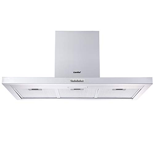 COMFEE' 90 cm Chimney Cooker Hood TSHM17SS-90 Stainless Steel Extractor...