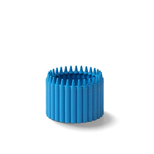 Crayola Crayon Cup for Kids - Colorful Pen, Pencil and Crayon Holder for Creative Kids Desk Organization - Cerulean, Suitable for Kids 3.5 Years and Up