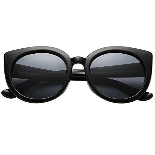 Polarspex Girls Elastic Cateye Toddler Polarized Kids Sunglasses - Ages 3-7 (Black | Smoke)
