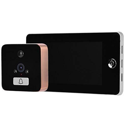 4,3 inch HD LCD-scherm Digitale kijkgaatje deur kijker, Mini 960P HD video deurbel Home Security Camera, Intelligente deurintercom kijker met 120 graden groothoek(Goud)