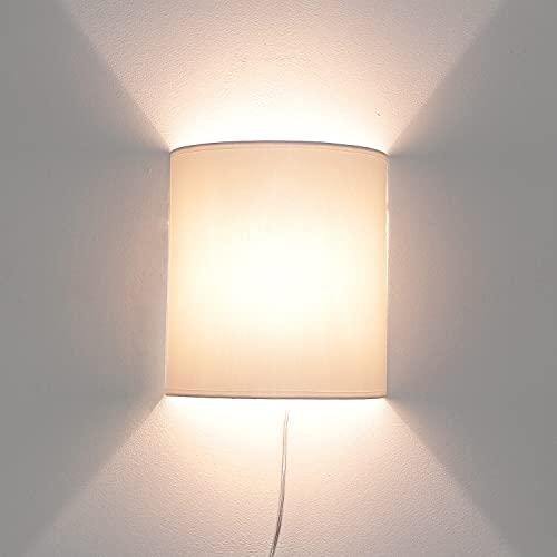 Lámpara de pared moderna con cable conector blanco elegante Loft ALICE