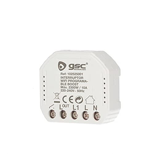 G039636 - Interruptor wifi programable Boost programable,Interruptor Persianas WiFi, Relé de Persiana Temporizador Inteligente para Cortina Eléctrica, Control Remoto por Telé.Max2300 W.