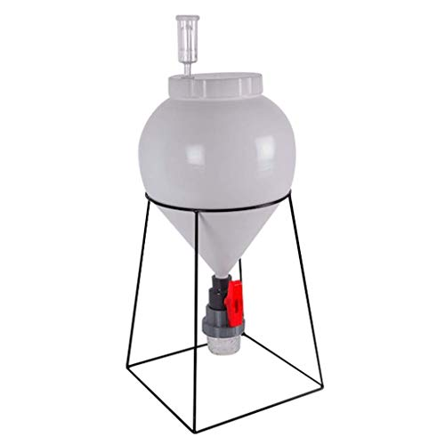 FASTFERMENT - FF3G 3 Gallon Conical Fermenter - Perfect 3 gallon fermenter or a small batch 1 gallon fermenter. (Stand and all hardware included)