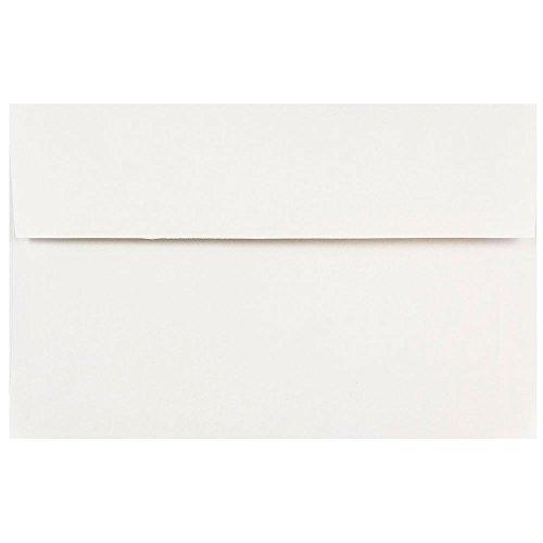 JAM PAPER Buste per Inviti - 152,4 x 241,3 mm - Bianco - 100/Confezione