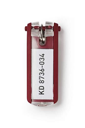 Durable 195703 Schlüsselanhänger Key Clip, 6 Stück, rot