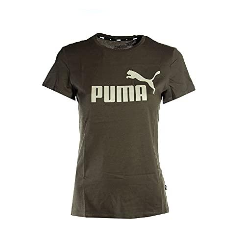 PUMA - Maglietta da donna con logo Ess, Foglia d'uva., L