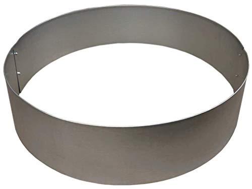 Rasenkanten Baumring Kreis aus Metall durchm. 75 cm x 17,5 cm - 1er Set