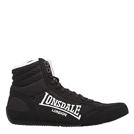 Lonsdale Contender - Botas de boxeo para hombre extra livianas, color Negro, talla 42 EU