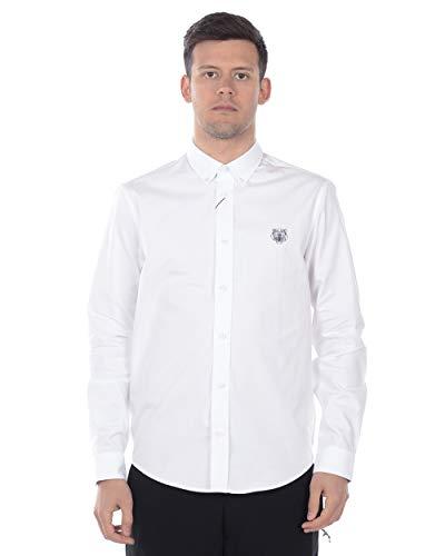 Kenzo Heren Tijger Crest Katoen Poplin Wit Shirt