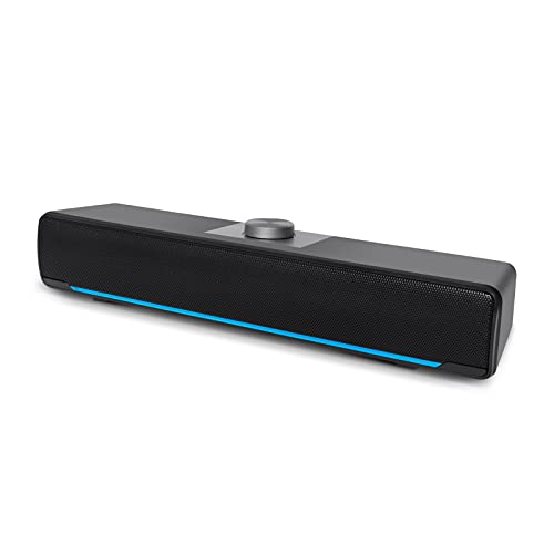 Computer Speakers, Phission 2.0 Stereo USB Powered Sound Bar Speakers...