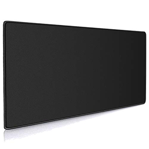 Cmhoo XXL Professional Large Mouse Pad & Computer Game Mouse Mat (35.4x15.7x0.12IN, 90x40 Black)