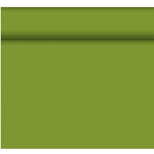 Duni Dunicel Tischläufer Tête-à-Tête Leaf Green 0,40x24 m, Tete a Tete Leaf Green mit 20 perforierten Abschnitten à 1,20 m lang und 0,40 cm breit