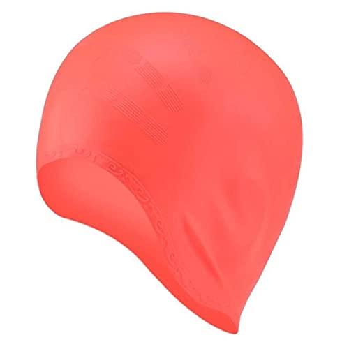 JWDS Gorro de natación Adultos Natación Gorras Hombres Mujeres Largo Cabello Impermeable Nadar Piscina Tapa Oreja Protege Gran Sombrero De Buceo