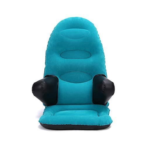 XRTJ Bodenstuhl mit Rüickenlehne Aufblasbarer Sessel Erwachsene Outdoor Garten Aufblasbares Sofa Camping Bodensessel