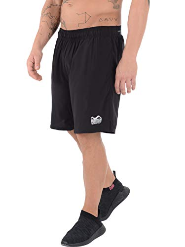 Phantom Athletics Herren Trainingsshorts für Fitness - Atmungsaktiv und Leicht - Lockerer, Athletischer Schnitt - Mit Seitentaschen und Runner's Pocket - Für Krafttraining, Ausdauersport (L)
