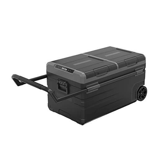 LIXUDECO Mini refrigerador 95L Compresor Camping Picnic Outdoor RV Refrigerador congelador profundo AC/DC12V24V Mini Nevera Portátil para Viajes Hogar (Nombre del color: Gris)
